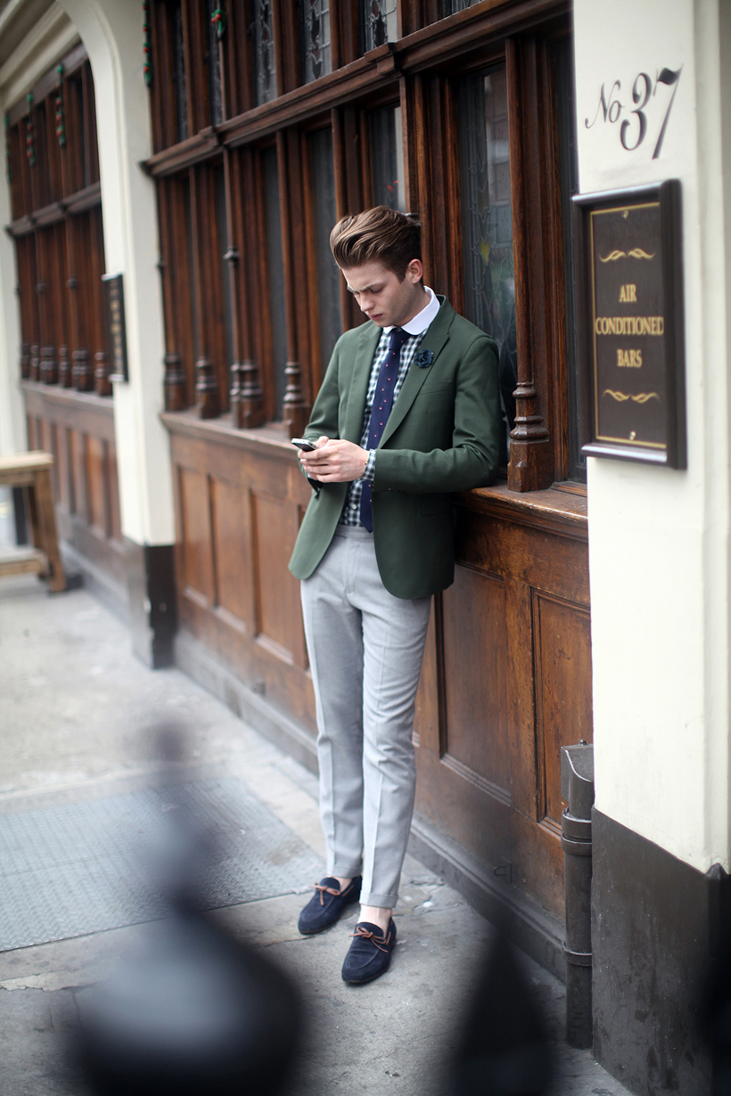 Sartorial Sunday In Green Blue And Grey What My